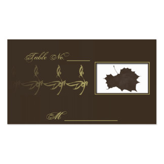 Autumn Glamour Brown Gold Wedding Place Cards Business Cards