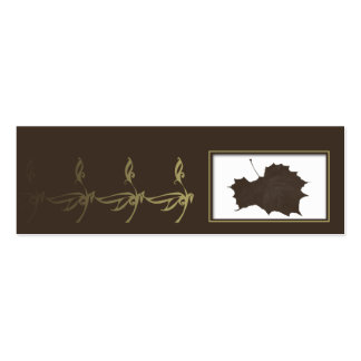Autumn Glamour in Chocolate Brown Gold Placecard Business Card Template