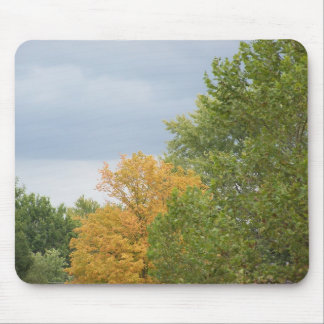Autumn Gold Among The Green, Mousepad