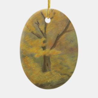 Autumn Gold Ceramic Ornament