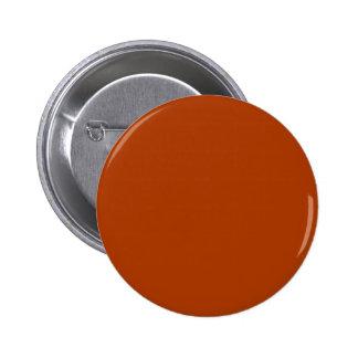 Autumn Gold Deep Rust Orange Color Only Pinback Button