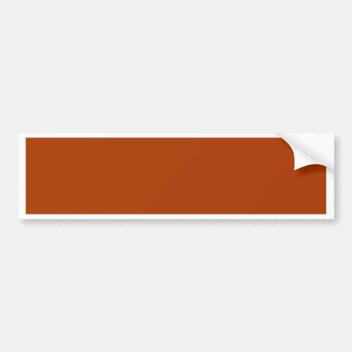 Autumn Gold Deep Rust Orange Color Only Bumper Sticker