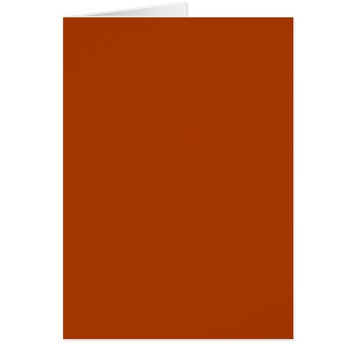 Autumn Gold Deep Rust Orange Color Only Card