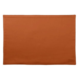 Autumn Gold Deep Rust Orange Color Only Placemats
