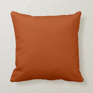 Autumn Gold Deep Rust Orange Color Only Throw Pillows