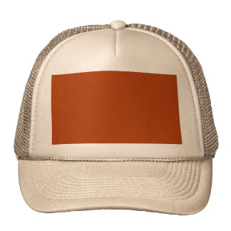 Autumn Gold Deep Rust Orange Color Only Trucker Hats