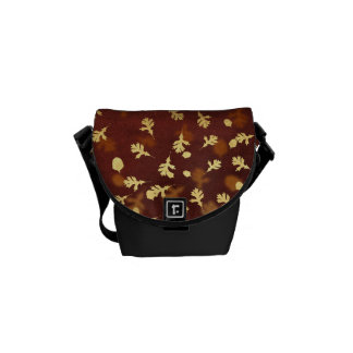 Autumn Gold Leaves Pattern Courier Bag