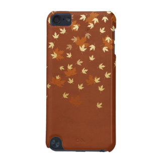 Autumn Gold Leaves Pattern iPod Touch 5G Covers