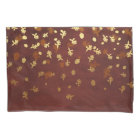 Autumn Gold Leaves Pattern Pillowcase