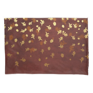 Autumn Gold Leaves Pattern Pillowcase