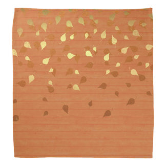 Autumn Gold Leaves/Pinecone Pattern Kerchief