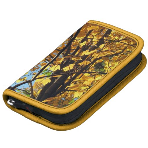 Autumn Gold Maple Leaves Folio Planners
