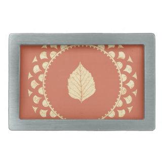 Autumn gold paper rectangular belt buckles
