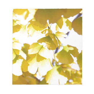 Autumn golden leaves notepad