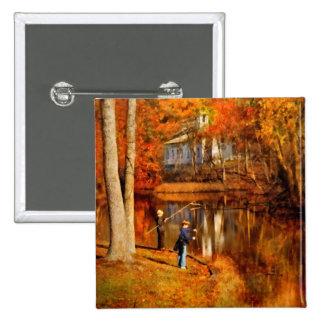 Autumn - Gone Fishing Pinback Button