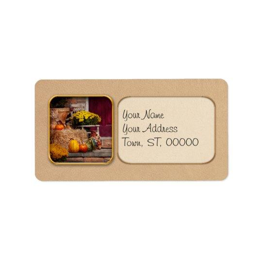 Autumn - Gourd - Autumn Preparations Label