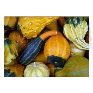 Autumn Gourds Card