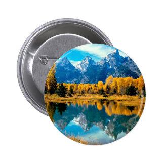 Autumn Grandeur Grand Teton Wyoming Button