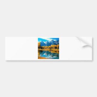 Autumn Grandeur Grand Teton Wyoming Bumper Stickers