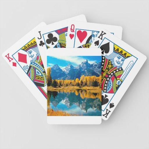 Autumn Grandeur Grand Teton Wyoming Playing Cards