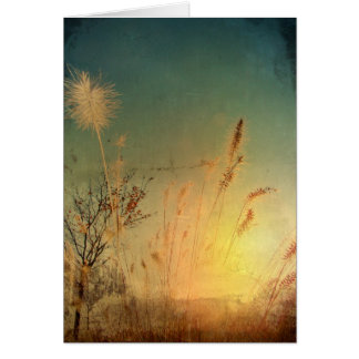 Autumn Grass Card
