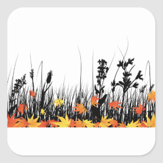 Autumn Grass Stickers