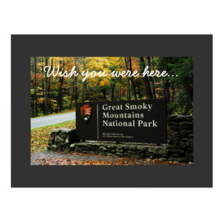 Autumn Great Smoky Mountains - Wish you were here Postcard