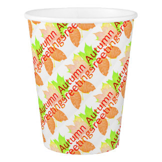 Autumn Greetings Paper Cup