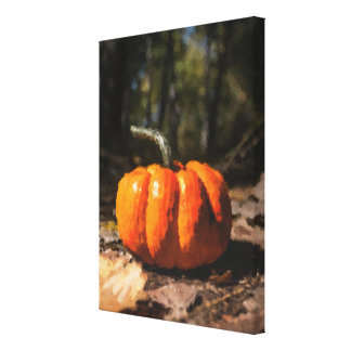 Autumn Halloween Pumpkin Canvas Print