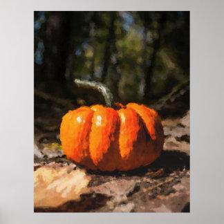 Autumn Halloween Pumpkin Poster