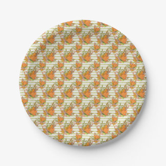 Autumn Hand Painted Illustration Paper Plate
