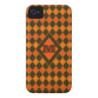 Autumn Harlequin Monogram Case-Mate iPhone 4 Case