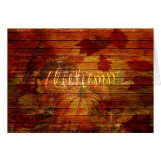 "Autumn Harvest ""Autumn"" Mixed Media Greeting Card"