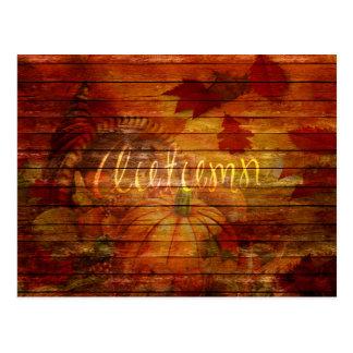 """Autumn Harvest """"Autumn"""" Mixed Media Postcard"""