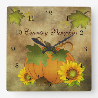 Autumn Harvest Country Pumpkin Clock