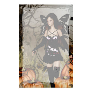 Autumn Harvest Fairy Gothic Stationery
