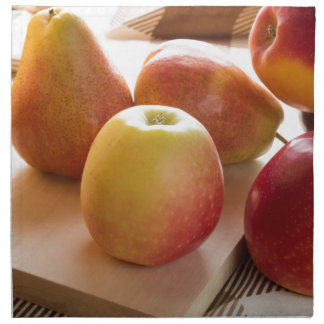 Autumn harvest of apples and pears napkin