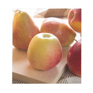 Autumn harvest of apples and pears notepad