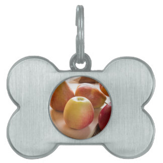 Autumn harvest of apples and pears pet name tag