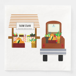 Autumn Harvest Paper Napkin