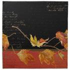 Autumn Harvest Red Maple Falling Leaves Leaf Napkin