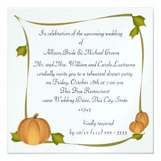 Autumn Harvest Rehearsal Dinner Card