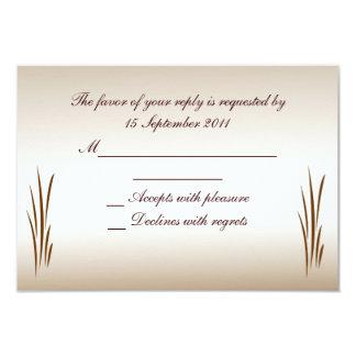 Autumn Harvest RSVP Wedding Card