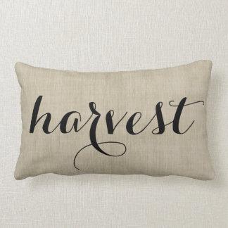 Autumn Harvest Rustic Burlap Look Pillow