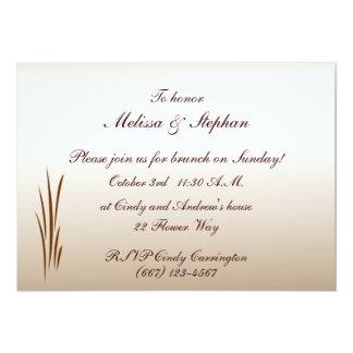 Autumn Harvest Wedding Brunch Card