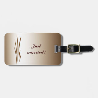 Autumn Harvest Wedding Luggage Tag