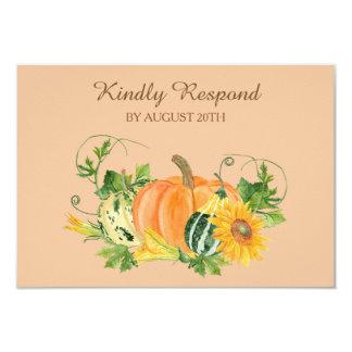 Autumn Harvest Wedding RSVP Card