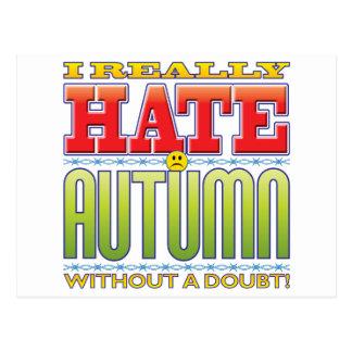 Autumn Hate Face Postcard