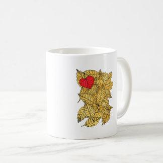 Autumn heart coffee mug