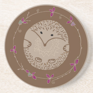 Autumn hedgehog coaster